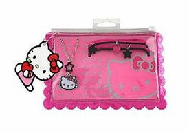 Hello Kitty Jewelry Pouch Necklace & PVC Bracelets