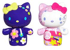 Hello Kitty Urban Vinyl Figures Peace & Love Kitty & Flower Power Mimmy