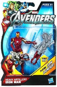 Marvel Avengers Concept 4 Inch Action Figure Heavy Artillery Iron Man [Plasma Claw Launcher!] BLOWOUT SALE!