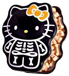 Hello Kitty Candy Tin Sour Orange Skelly Bones
