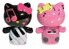 Hello Kitty Urban Vinyl Figures Piano Kitty & Boom Box Mimmy