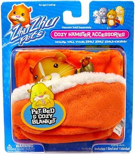 Zhu Zhu Pets Hamster Bed & Blanket [Orange]
