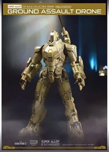 Iron Man 2 Play Imaginative Super Alloy 1/12 Scale Collectible Figure Ground Assault Drone Pre-Order ships October