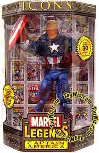 Marvel Legends Icons 12 Inch Series 1 Action Figure Captain America [No Mask]