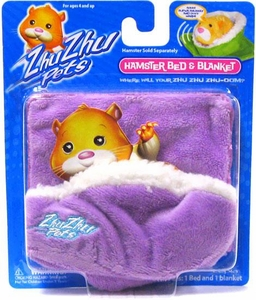 Zhu Zhu Pets Hamster Bed & Blanket [Purple]