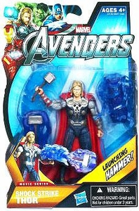 Marvel Avengers Movie 4 Inch Action Figure Shock Strike Thor [Launching Hammer!]