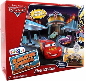 Disney / Pixar CARS Radiator Springs Classic Exclusive Playset Flo's V8 Cafe