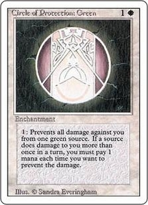 Magic the Gathering Revised Edition Single Card Common Circle of Protection: Green