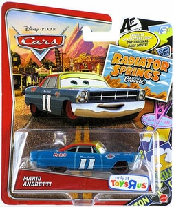 Disney / Pixar CARS Radiator Springs Classic Exclusive 1:55 Die Cast Car Mario Andretti