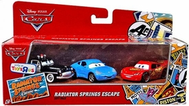 Disney / Pixar CARS Radiator Springs Classic Exclusive 1:55 Die Cast 3-Pack Radiator Springs Escape [Sheriff, Sally & Lightning McQueen]