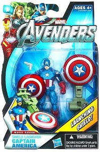 Marvel Avengers Movie 4 Inch Action Figure Shield Launcher Captain America [Launching Shield!]