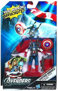 Marvel Avengers Comic Deluxe 4 Inch Action Figure Mission Pack Aerial Infiltration Mission Captain America