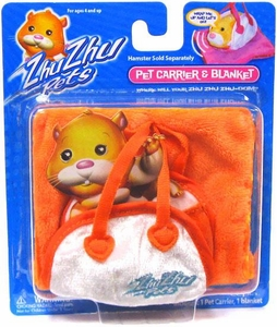 Zhu Zhu Pets Hamster Pet Carrier & Blanket [Orange]