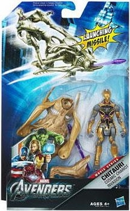 Marvel Avengers Comic Deluxe 4 Inch Action Figure Mission Pack Chitauri Cosmic Chariot Invasion