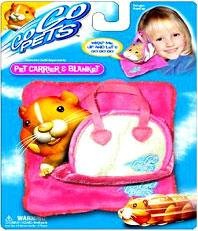 Zhu Zhu Pets Hamster Pet Carrier & Blanket [Pink]