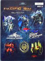 NECA Pacific Rim 9 Piece Sticker Set Jaegers New!