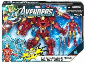 Marvel Avengers Movie Deluxe Action Figure Stark Tech Assault Armor Iron Man