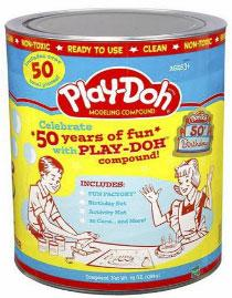 Play-Doh 50th Birthday Retro Canister