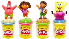 Play-Doh Nickelodeon Set of all 4 Can Toppers