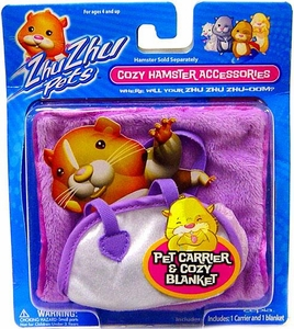 Zhu Zhu Pets Hamster Pet Carrier & Blanket [Purple]