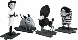 Frankenweenie Movie Mini Figure Collector 4-Pack Live Sparky, Victor, Edgar & Persephone