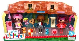 Lalaloopsy Mini Figure 3-Pack Jewel Sparkles, Sir Battlescarred & Lady Stillwaiting