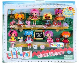 Lalaloopsy Exclusive 3 Inch Mini Figure Playset Class Picture [All 16 Original Characters & Pets!]