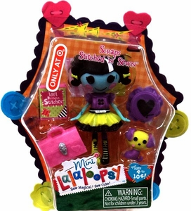 Lalaloopsy Exclusive 3 Inch Mini Figure with Accessories Scraps Stitched 'n' Sewn