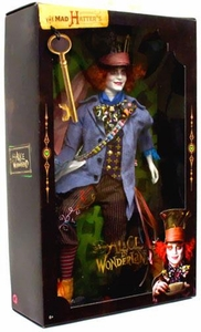 Alice in Wonderland 2010 Movie Pink Label Collection Barbie Doll Mad Hatter [Johnny Depp]