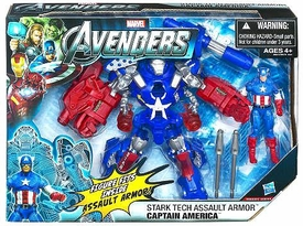 Marvel Avengers Movie Deluxe Action Figure Stark Tech Assault Armor Captain America