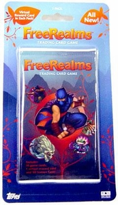Topps Free Realms Trading Card Game Booster Pack