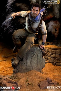 Uncharted 3 Sideshow Collectibles Premium Format 1/4 Scale Collectible Statue Nathan Drake New!