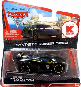 Disney / Pixar CARS 2 Movie Exclusive 1:55 Die Cast Car with Synthetic Rubber Tires Lewis Hamilton