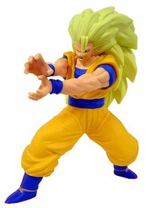 Dragon Ball Z BanPresto Deluxe Vinyl Statue 8 Inch Figure Super Saiyan 3 Goku Damaged Package, Mint Contents!