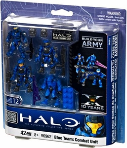 Halo Mega Bloks Exclusive Set #96962 Blue Team: Combat Unit