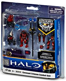 Halo Wars Mega Bloks Set #96959 Crimson Covenant Combat Unit