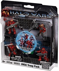 Halo Wars Mega Bloks Exclusive Set #96865 UNSC RED Combat Unit [4 Mini Figures]