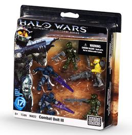 Halo Wars Mega Bloks Exclusive Set #96822 Combat Unit III [5 Mini Figures]
