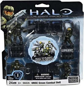 Halo Wars Mega Bloks Set #96826 UNSC GREEN Combat Unit [4 Mini Figures]