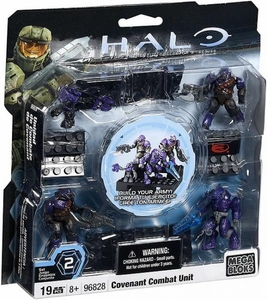 Halo Wars Mega Bloks Set #96828 Covenant PURPLE Combat Unit [4 Mini Figures]