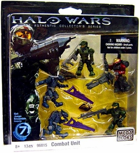 Halo Wars Mega Bloks Exclusive Set #96815 Combat Unit [5 Mini Figures]