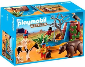 Playmobil Western Set #5252 Native American Children & Bear Cave