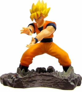 Dragon Ball Z Japanese Mini 2 Inch PVC Figure Super Saiyan Goku [Kamehameha]
