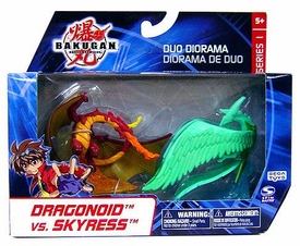 Bakugan Collector Duo Diorama Series 1 Mini Figure 2-Pack Dragonoid vs. Skyress