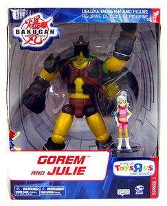 Bakugan Collector Exclusive Monster Series 1 Deluxe Figure Gorem & Julie