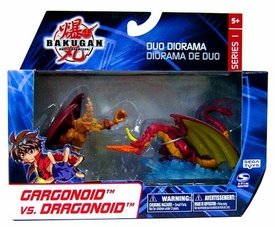 Bakugan Collector Duo Diorama Series 1 Mini Figure 2-Pack Gargonoid vs. Dragonoid BLOWOUT SALE!
