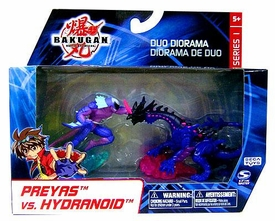Bakugan Collector Duo Diorama Series 1 Mini Figure 2-Pack Preyas vs. Hydranoid