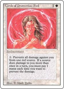 Magic the Gathering Revised Edition Single Card Common Circle of Protection: Red