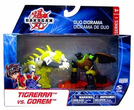 Bakugan Collector Duo Diorama Series 1 Mini Figure 2-Pack Tigrerra vs. Gorem