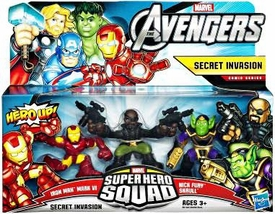 Marvel Avengers Superhero Squad 3-Pack Secret Invasion [Iron Man Mark VI, Nick Fury & Skrull]